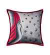 Pink Champa Meditation Square Pillow Cover