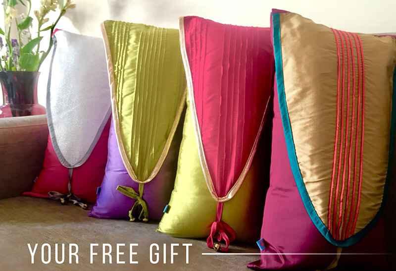 Pink Champa Warli Nature Lumbar Pillow Cover