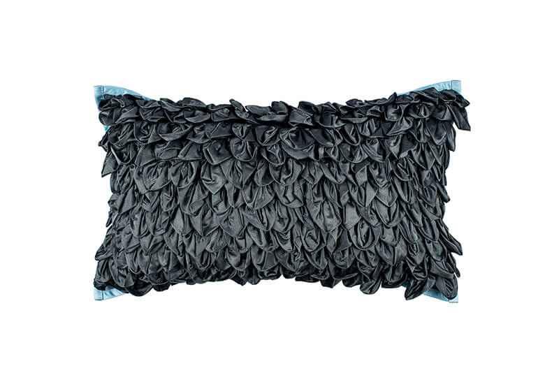 Pink Champa Loose Leaves Lumbar Pillow Cover