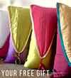 Pink Champa Spun Gold Stitch Lumbar Pillow Cover