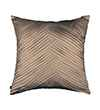 Pink Champa Criss Cross Square Pillow Cover