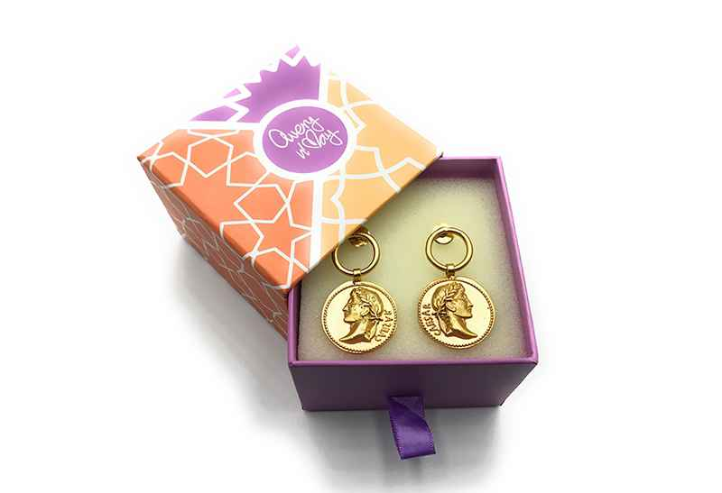 Avery and May Vintage Coin Earring