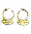 Avery and May Geometric Geometry Gold Earring