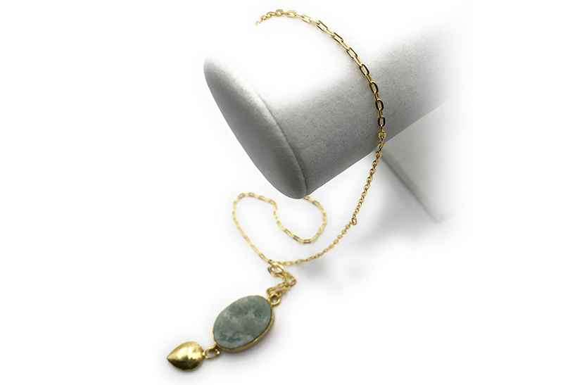 Avery and May Gems Druzy Drop Small Necklace