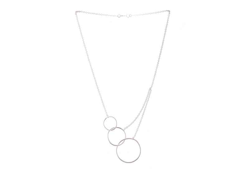 Avery and May Geometric Geometry of Life Small Necklace