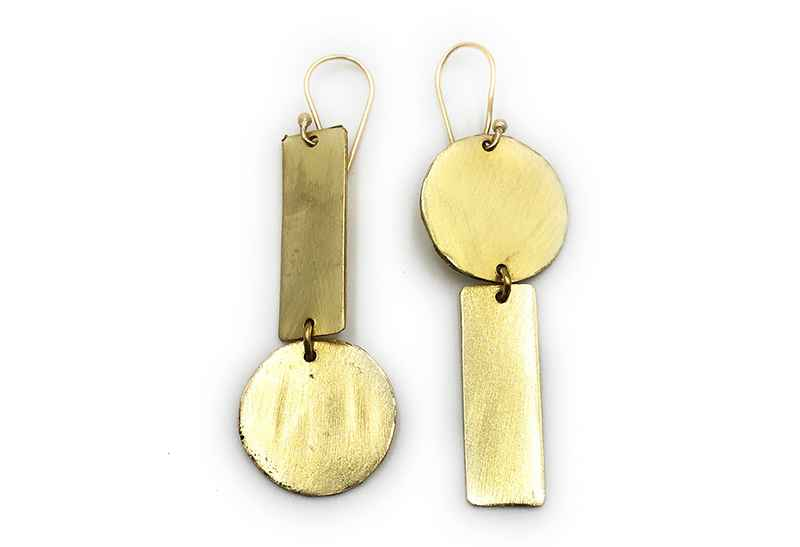Avery and May Geometric Opposites Attract Earring