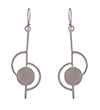 Avery and May Geometric Notes of Silver Earring