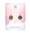 Avery and May Cubism Handmade Filigree s for Women, Gold Color Earring