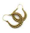 Avery and May Boho Handmade Bearings Hoop s for Women, Gold Color Earring