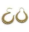 Avery and May Boho Handmade Bearings Hoop s for Women, Gold Color Earring