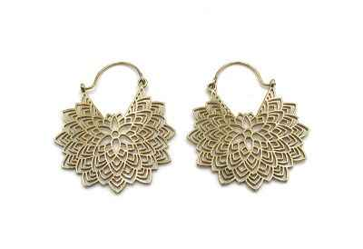 Avery and May Handmade Petals Filigree Earrings for Women, Gold Color
