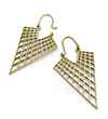 Avery and May Geometric Handmade Triangular Filigree Honeycomb s for Women, Gold Color Earring