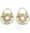 Avery and May Geometric Handmade DNA Filigree Hoop s for Women, Gold Color Earring