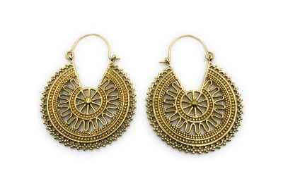 Avery and May Handmade Delhi Hoops Earrings for Women, Gold Color