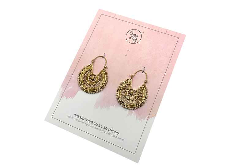 Avery and May Boho Handmade Delhi Hoops s for Women, Gold Color Earring