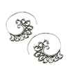 Avery and May Zen Handmade Bali Threader Hoop s for Women, Silver Color Earring