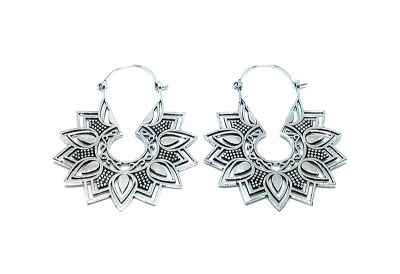 Avery and May Handmade Blossom Filigree Earrings for Women, Silver Color