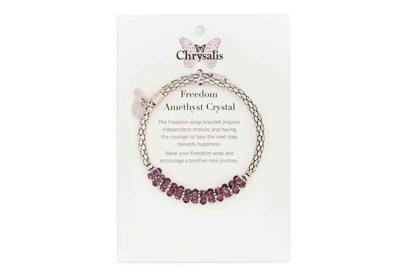 Chrysalis Chrysalis Freedom Amethyst Crystal Wrap Bangle Bracelet