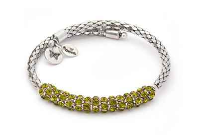 Chrysalis Charisma Peridot Crystal Wrap Bangle