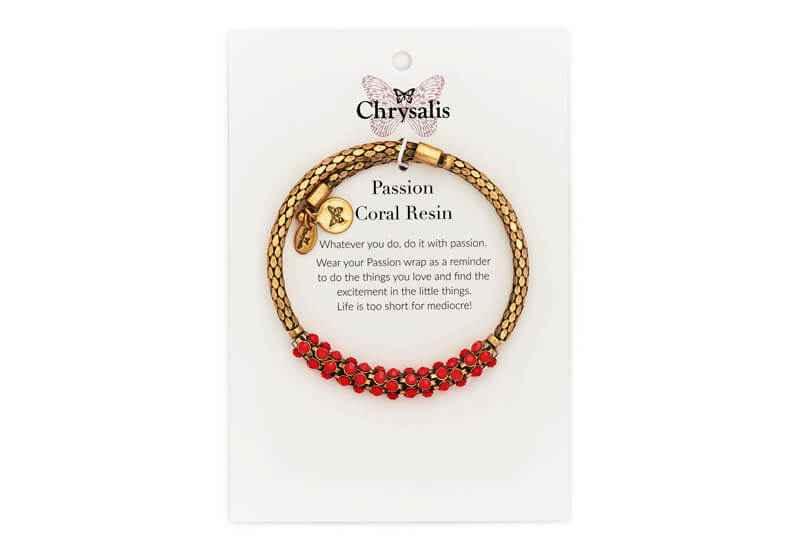 Chrysalis Chrysalis Passion Coral Resin Wrap Bangle Bracelet