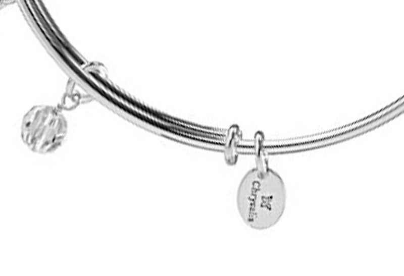 Chrysalis Chrysalis Holiday Snowflake Pendant Charm Expandable Bangle , Silver Rhodium Plated Bracelet