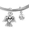 Chrysalis Chrysalis Holiday Angel Charm Expandable Bangle , Silver Rhodium Plated Bracelet