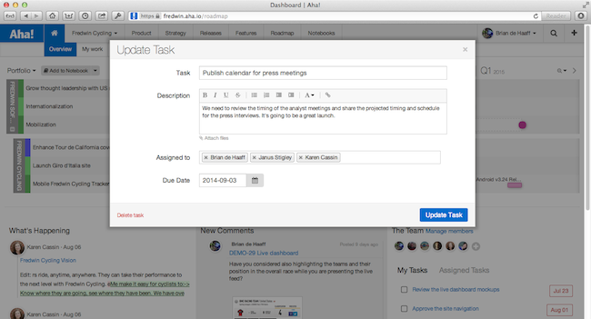 Product management tasks