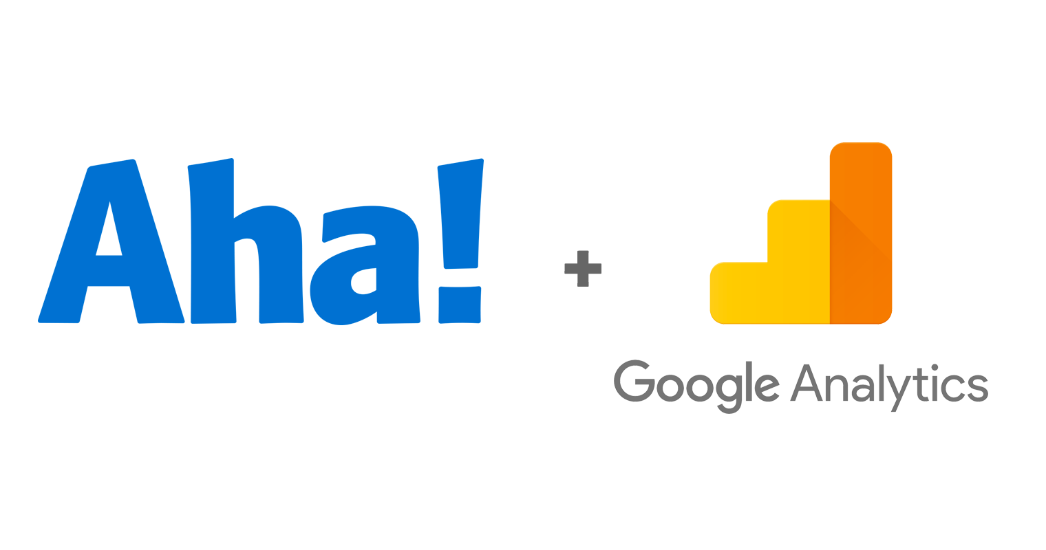 Aha ideas portal and google analytics logo