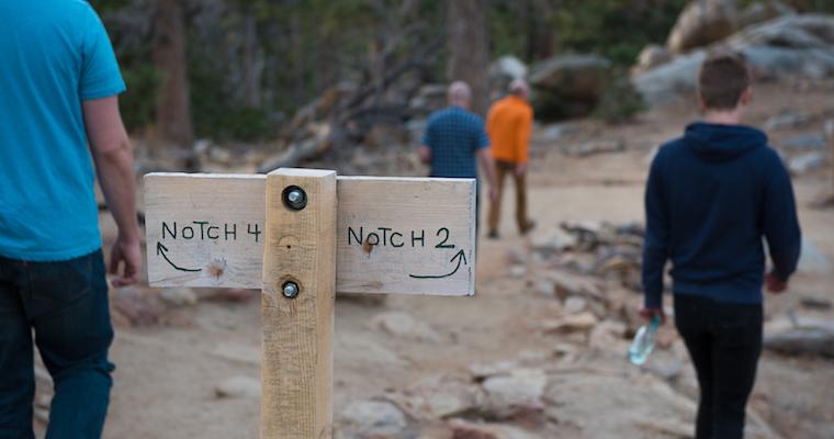 engineering team on a hike