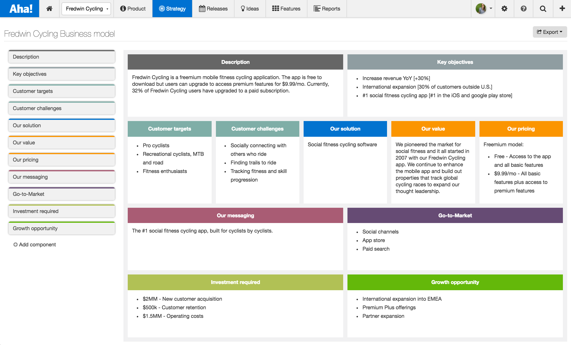 Just launched a more comprehensive business model for Case for support template