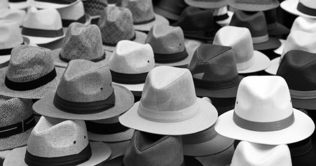 black and white fedoras