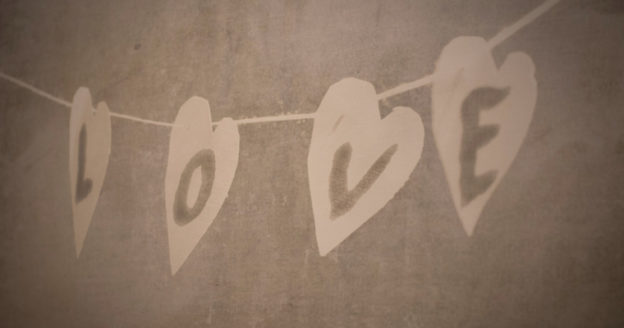 love concrete wall