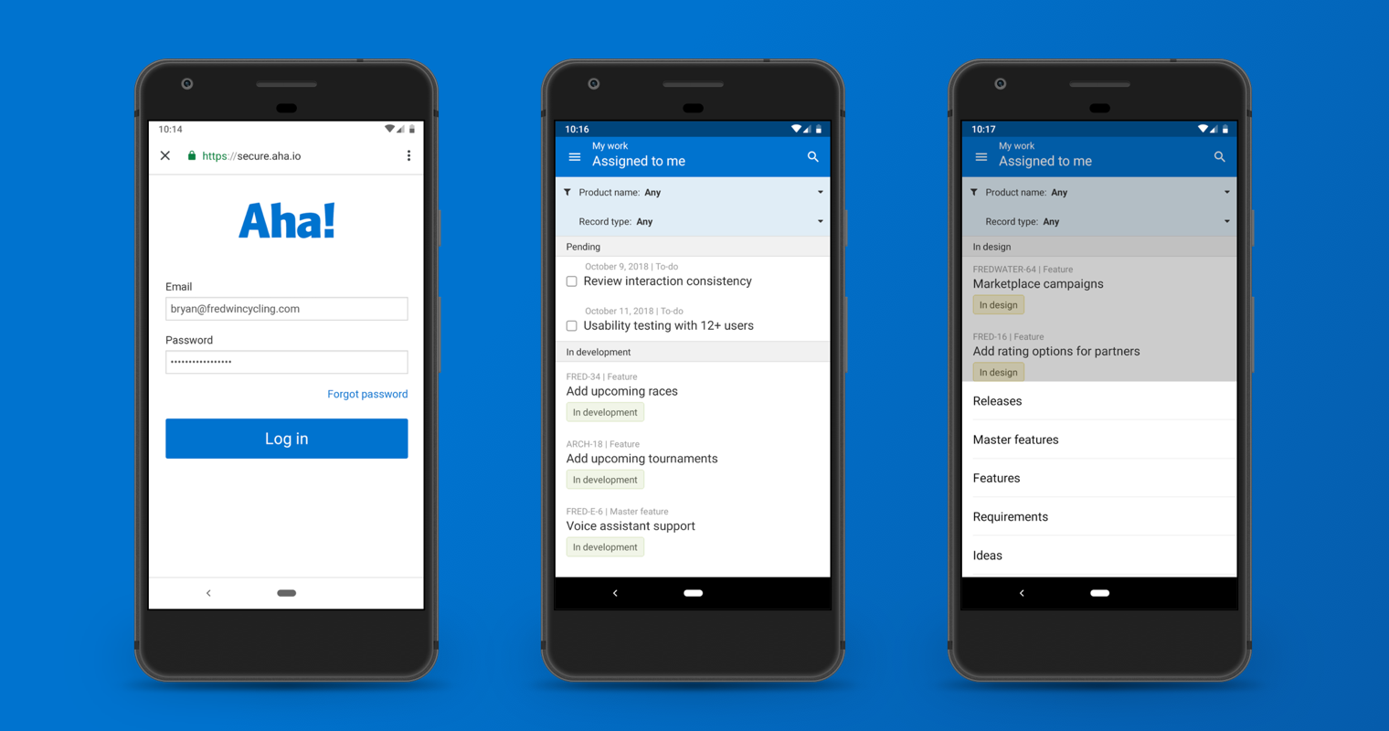 Just Launched! — Aha! Mobile Now Available for Android