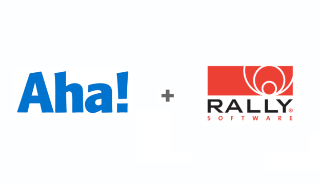 Aha! and Rally Software logos