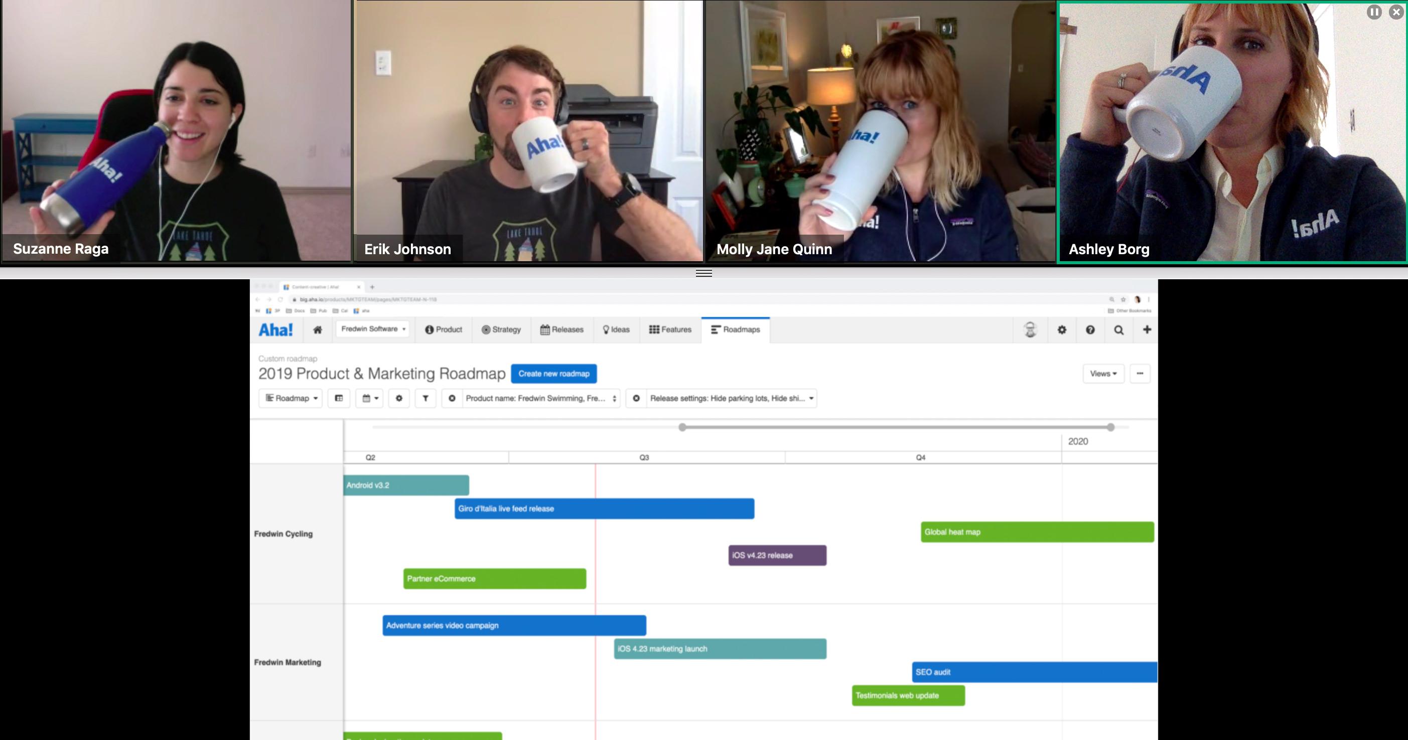 Remote Team Meetings vs  Office Team Meetings | Aha! Blog