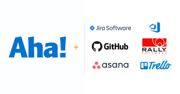 Aha! integration logos for Jira Rally Azure Devops and More