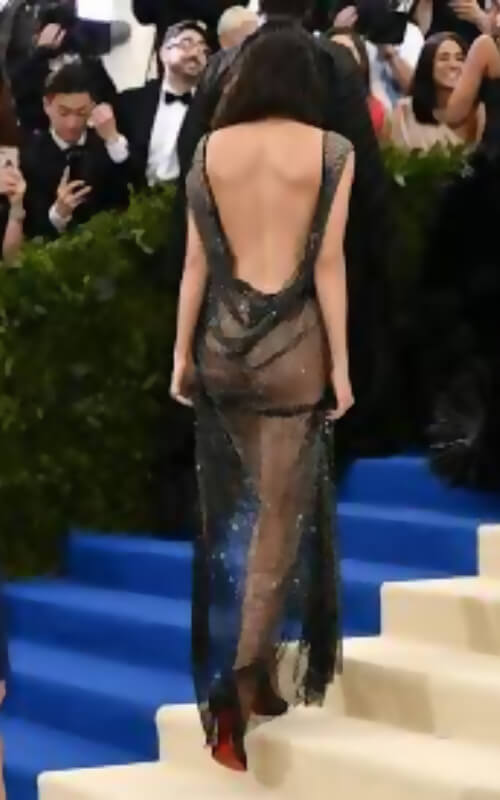dress met gala of kendall jenner