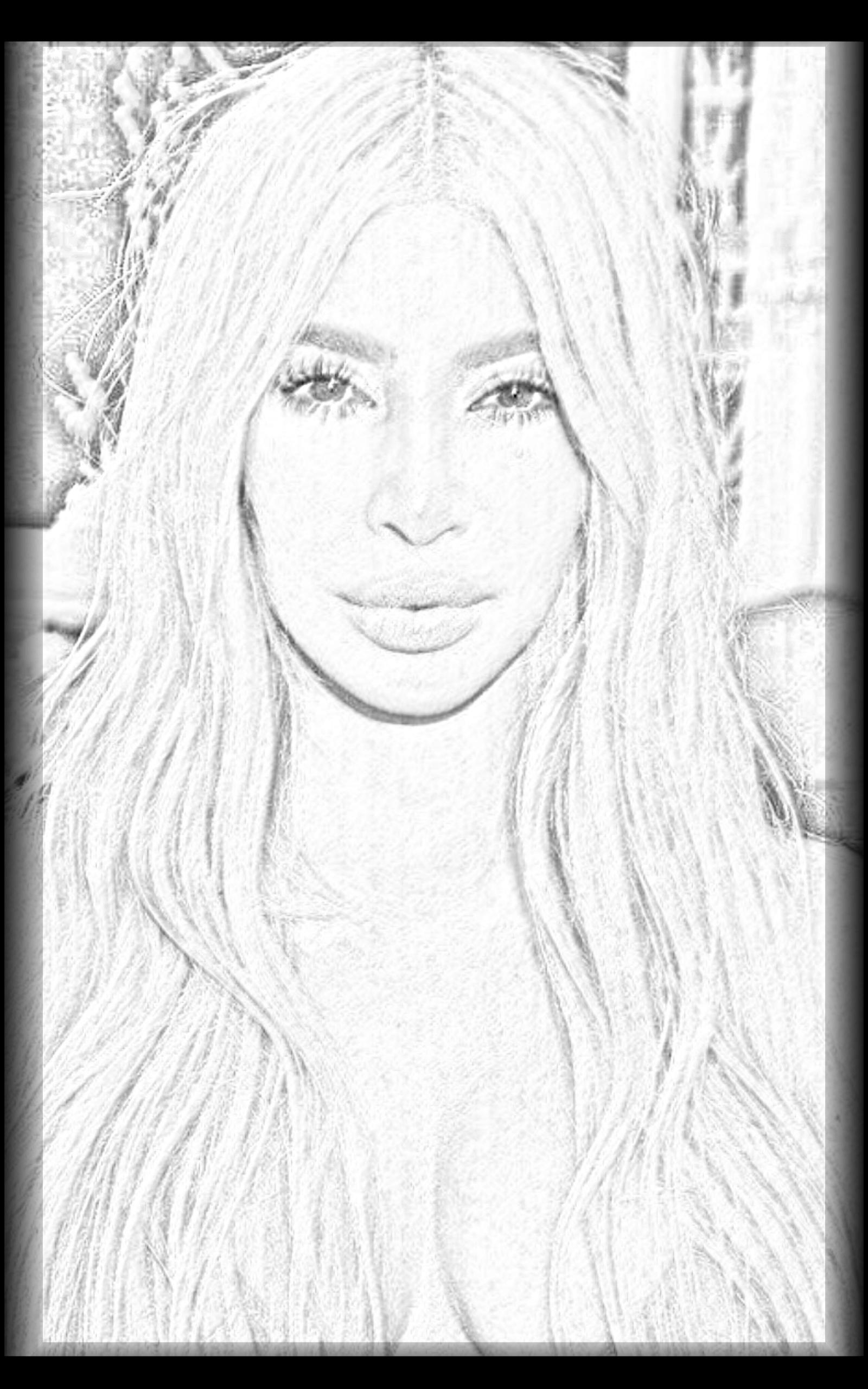 kim kardashian coloring pages photos