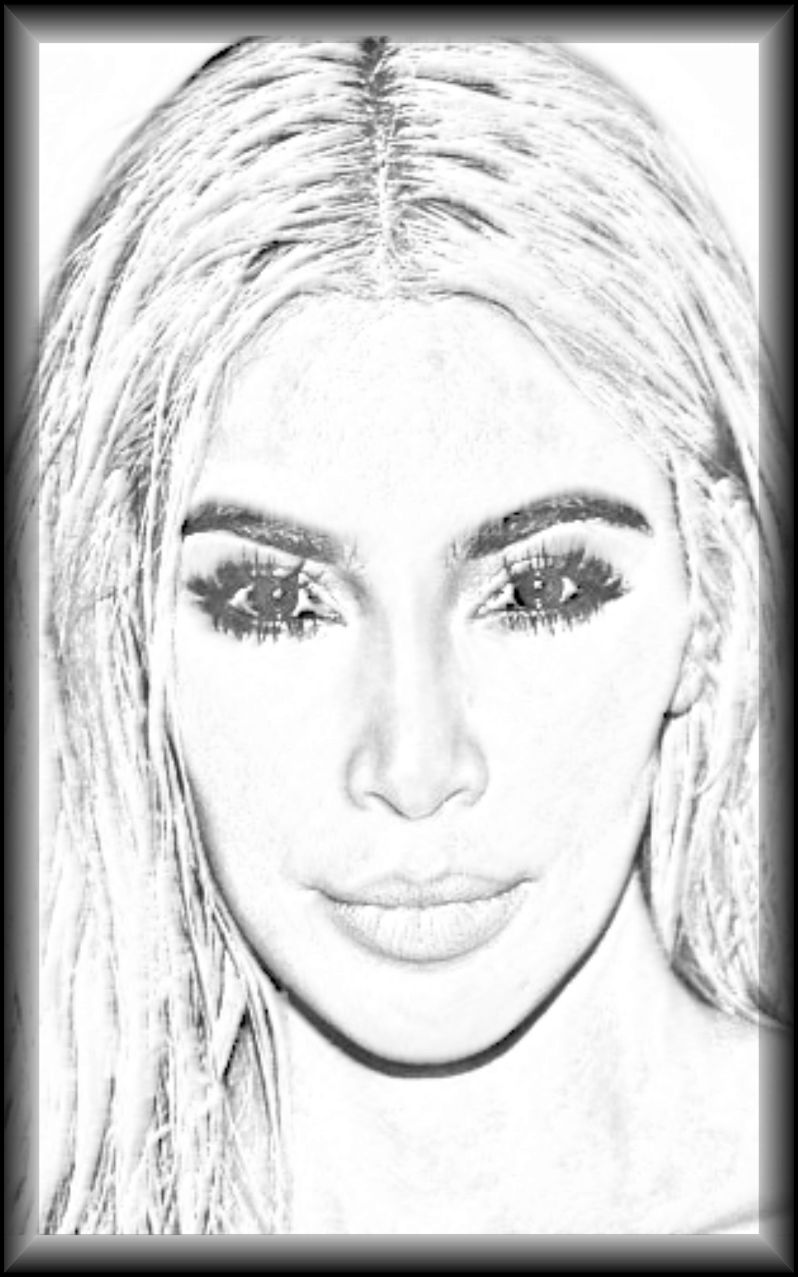 adult-coloring-pictures-kim-kardashian body in dress of kardashian photos