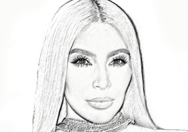 kim-kardashian adult coloring pictures pages