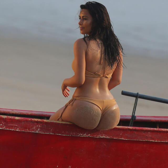 real pics of kim kardashian bikini 2018