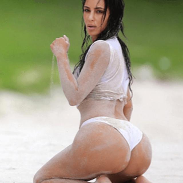 pics of kim kardashian bikini butt