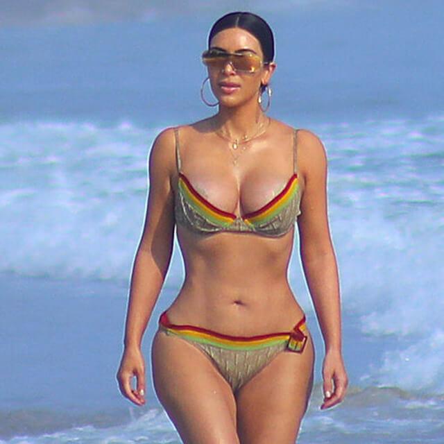 real pics of kim kardashian bikini