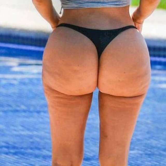 kim kardashian beach cellulite