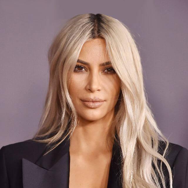blonde kim kardashian face makeup