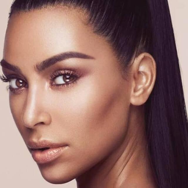 kim kardashian face pics