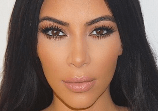 face photos of famous kim kardashian