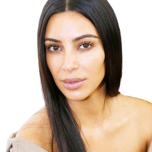 kim kardashian no makeup photo
