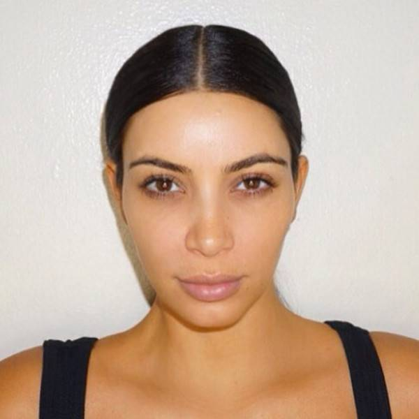 kim kardashian without makeup picture