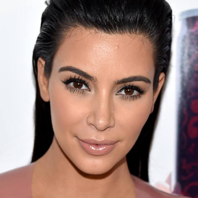 kim kardashian makeup after before